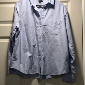 J Crew blue twill button down shirt